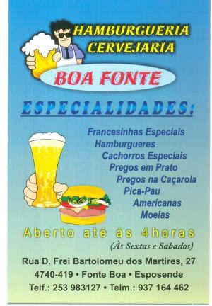 Café Snack Bar Boa Fonte :: Restaurantes