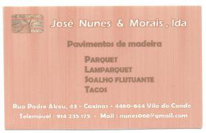 JOSE NUNES & MORAIS LDA :: Prestação de Serviços