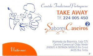 SABORES CASEIROS - RESTAURANTE  TAKE AWAY :: Take Away